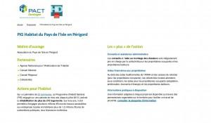 PACT Dordogne » PIG Habitat du Pays de l'Isle en Périgord