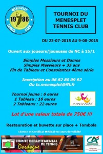 tournoi ménesplet tennis club