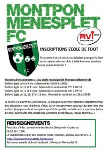 Prospectus Ecole Foot