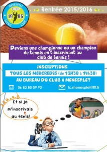 inscription TENNIS Ménesplet 2015