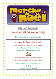 Asso Scolaire flyer Marché de Noël
