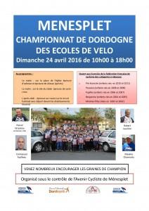 Championnat dordogne des ecoles de velo_menesplet_24.04.2016