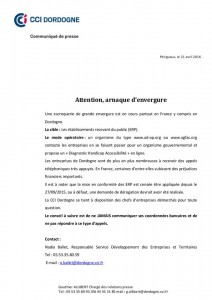 gendarmerie de la dordogne_arnaque_22.04.2016