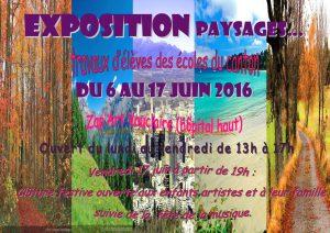 Exposition PAYSAGE_6 au 17 juin 2016